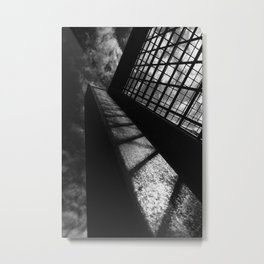 Black and white lines and shadows Metal Print