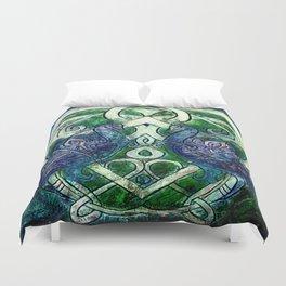 Celtic Peacocks Duvet Cover