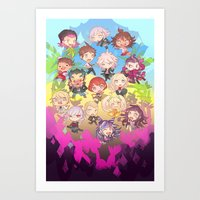 dangan ronpa Art Prints featuring Dangan Island by CO27