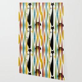 Mid-Century Modern Art Cat 2 Wallpaper