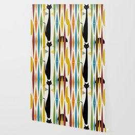 Mid-Century Modern Art Cat 2 Wallpaper