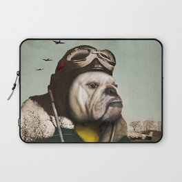 "Wing Commander, Benton ""Bulldog"" Bailey of the RAF Laptop Sleeve"