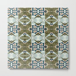 Vividly Mainly Tricolor Pattern 3 Metal Print
