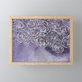 Art-ichoke in purple Framed Mini Art Print