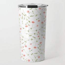 pink floral theme Travel Mug