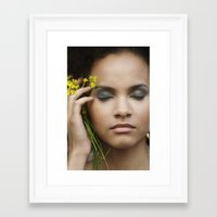leah flores Framed Art Prints featuring Leah by Paloma