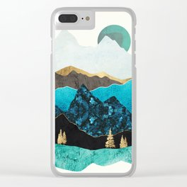 Teal Afternoon Clear iPhone Case