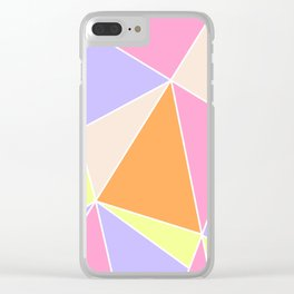 Candy Triangles Clear iPhone Case
