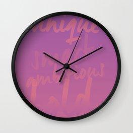 Empowering Sunrise Wall Clock