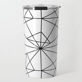 Contemporary black white abstract geometrical Travel Mug
