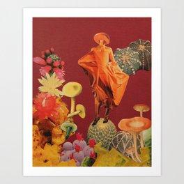 Boletus piperatus Art Print