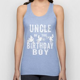 Uncle Of The Birthday Boy Dirt Bike B-day Party print Unisex Tank Top