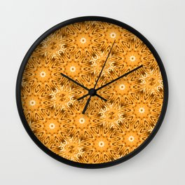 Peach Vintage Floral Wall Clock