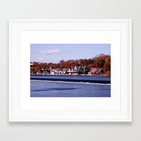rowing Framed Art Prints featuring Rowing by Scott Kuhn