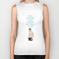 tyler durden Biker Tanks featuring F. C. - Tyler Durden Quote by V.L4B