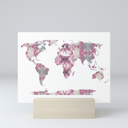 Shibori Map of World 8 Mini Art Print