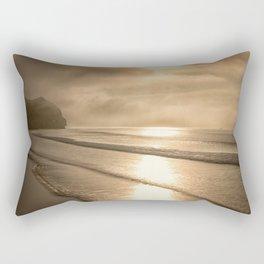 And so it Begins sunrise at Avila Beach California Rectangular Pillow
