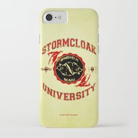 skyrim iPhone & iPod Cases featuring Stormcloak University(Skyrim) by Chubbybuddhist