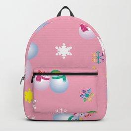 Snowflakes & Pair Snowman_B Backpack