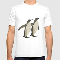 Penguins mate for life MEDIUM White Mens Fitted Tee