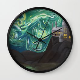 Starry Night at Hogwarts Wall Clock