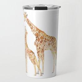 Mother and Baby Giraffes Travel Mug