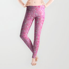 Kawaii Menhera on Pink Leggings
