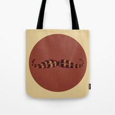 Feather Mustache Tote Bag