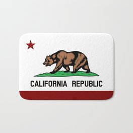 California Flag Bath Mat
