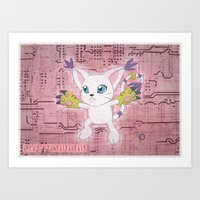 Digimon Adventure - Gatomon Art Print