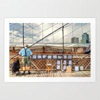 Selling His Wares Art Print