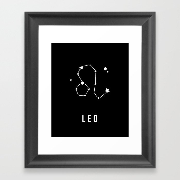 Leo Zodiac Sign Quote Framed Art Print By Thedailyquotes Society6