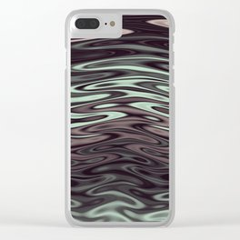 Ripples Fractal in Mint Hot Chocolate Clear iPhone Case