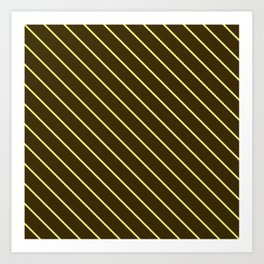 Brown And Yellow Stripes Art Print