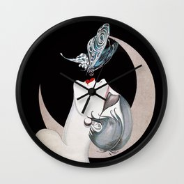 Art Deco Woman Wall Clock