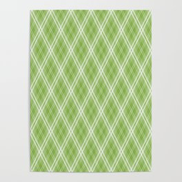 Color Of The Year 2017 Designer Colors Greenery Argyle Plaid Poster
