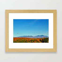 Vermont Peak Foliage Framed Art Print
