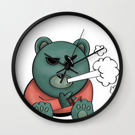 Tough Teddy Wall Clock