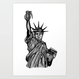 Statue of Suppression Art Print