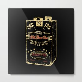 Old Time Car Oil Can  Metal Print