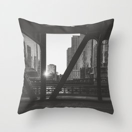 Downtown Sunset - Chicago Photography Throw Pillow