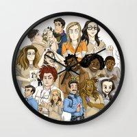oitnb Wall Clocks featuring OITNB Fanart by StephDere