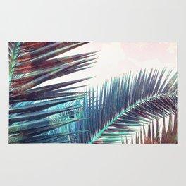 Nostalgic Palm Leaves #Decor #Vintage #BuyArt Rug