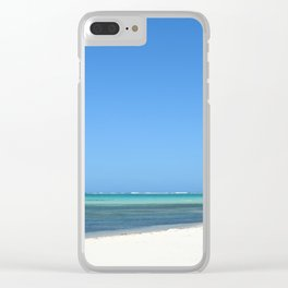 Crystal Clear Day on the Beach Clear iPhone Case