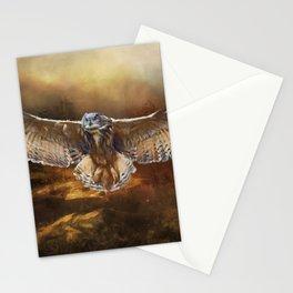 Owl Flight Stationery Cards