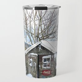 Rustic Shed Snowday Travel Mug