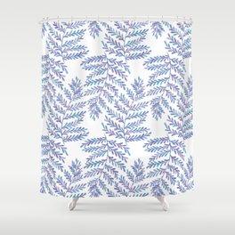 Fern Leaf - Blue Palette Shower Curtain