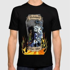 Unhappily Ever After - Lady Death & Evil Ernie LARGE Black Mens Fitted Tee