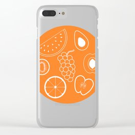 Summer Fruits Patterns Clear iPhone Case