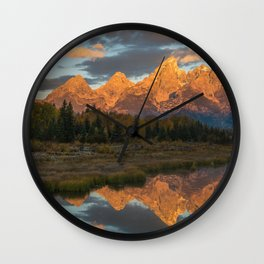 Sunrise On The Snake River Wall Clock